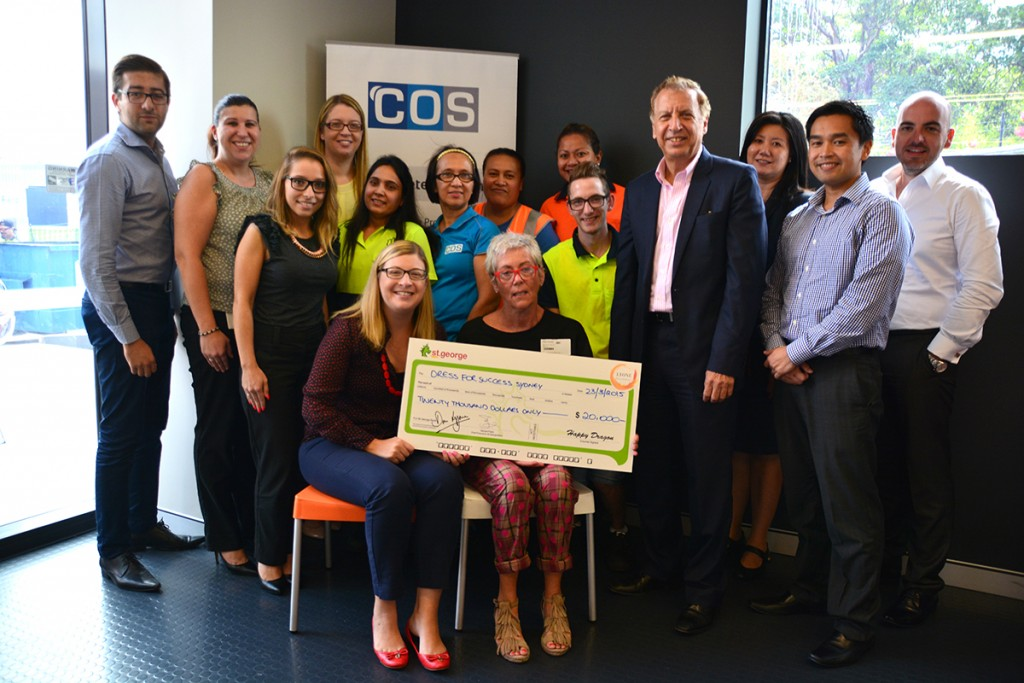 Dress for Success Cheque Presentation